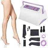 Masajeador de piernas, compresión de aire de piernas para masaje y relajación pies de pantorrilla muslo, Masajeador de compresión de aire de piernas,ayuda a aliviar la hinchazón y los dolores de edema