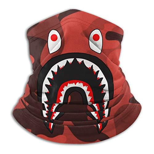Bape Blood Shark Red Camo Neck Gaiter Warmer Windproof Mask Dust Face Clothing Free UV Face Mask