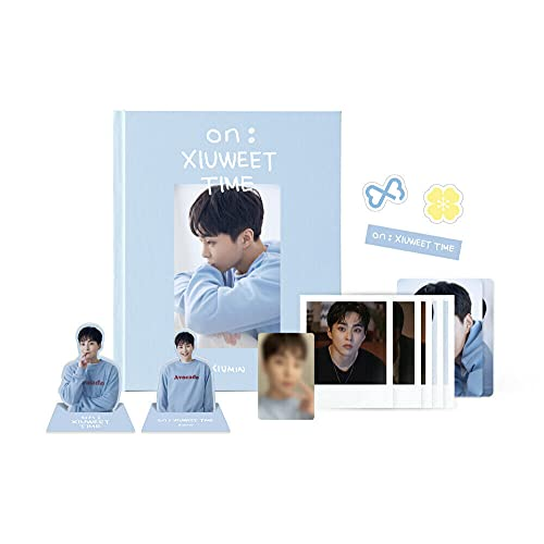 Exo Xiumin - On : Xiuweet Time Photo Story Book incl, Photobook, Photo Standee, Luggage Sticker, Polaroid Photocard Set, Photocard Sleeve, Photocard, Extra Photocards
