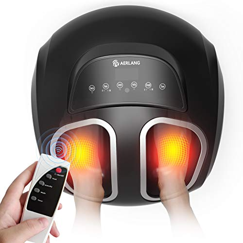 AERLANG Foot Massager Machine with Soothing Heat, Shiatsu Foot Massager Alleviates Foot Pain through...