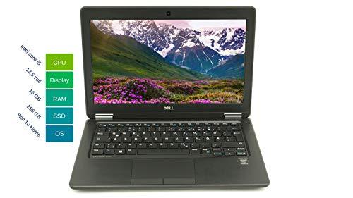Portátil Dell Latitude E7250 31,75 cm 12,5 pulgadas WXGA – Potente ordenador portátil Intel Core i5 2 x 2.3GHz 16 GB RAM 256 GB SSD Win 10 Home teclado de Intel HD Graphics 5500 – 1,25 kg (reacondicionado)