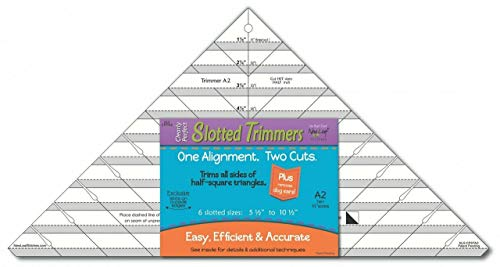 Clearly Perfect Slotted Trimmer A2~ Acrylic Quilting Template ~Trim up to 10 1/2