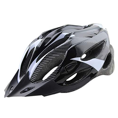 BKAUK Fahrradhelm, leicht, verstellbar, Mountainbike, Rennrad, Sicherheitshelm für Damen und Herren, Fahrradausrüstung