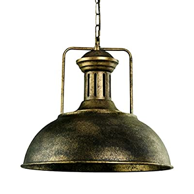 Lingkai Pendant Lighting Industrial Nautical Barn Pendant Light Single with Rustic Dome Bowl Shape Mounted Fixture Ceiling Lamp Chandelier