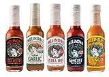 Melinda's Habanero Hot Sauce Variety 5 Pack (Ghost Pepper,Mango,Garlic,Extra Hot,XXXXtra Reserve)