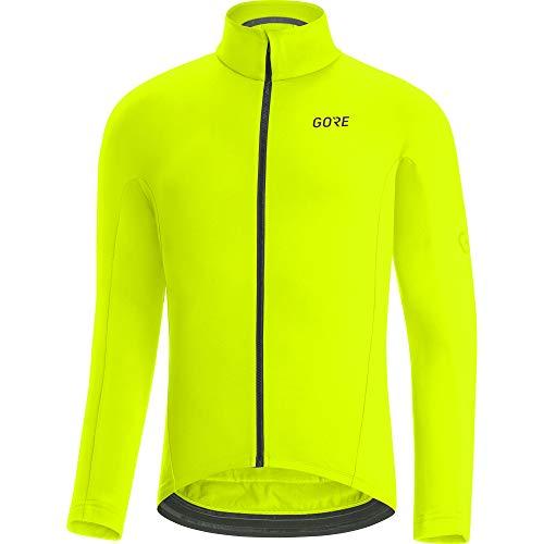 GORE WEAR Herren Thermo Fahrrad-Trikot, C3, L, Neon-Gelb