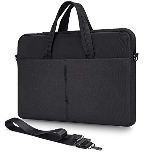 13.3 14 15 Inch Laptop Shoulder Case for Acer Chromebook 14/ Spin 3/ Swift 3, Asus Chromebook/VivoBook Flip 14, Dell Inspiron/Latitude, Lenovo Flex/Yoga C940 C930, HP Chromebook Sleeve Bag(Black)