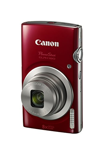 Canon PowerShot ELPH 180 Digital Camera w/Image Stabilization and Smart AUTO Mode (Red) Connecticut