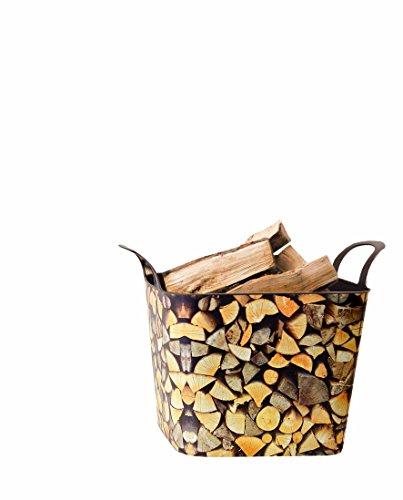Onbekend hoekig, flexibele mand houten blokken in antraciebruin