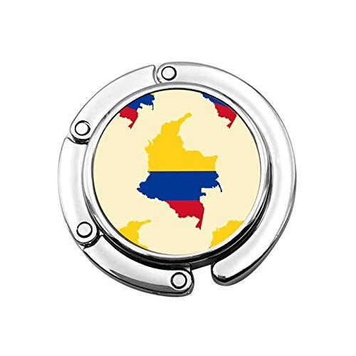 Geldbörsenhaken für Tisch, Karte von Kolumbien Tischhaken für Geldbörsen Handtaschenhalter für Mädchen Restaurant Stuhl