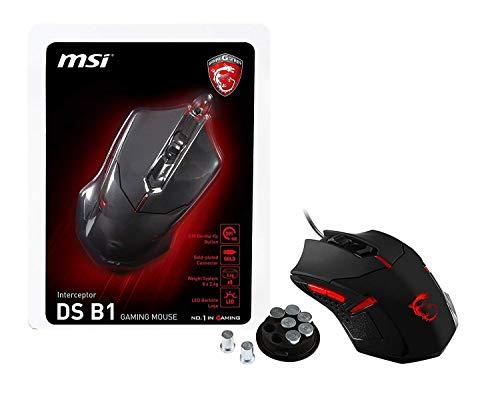 MSI Optische USB-Gaming-Maus mit ergonomischem Design & Gewichtssystem (Interceptor DS B1)