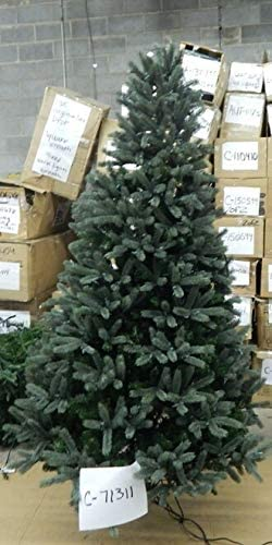 7.5' Plastic Mixed Spruce Lights Purchase with Tree Deluxe
