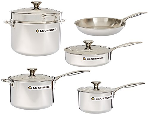 Le Creuset Tri-Ply Stainless Steel Cookware Set, 10 pc.
