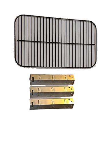 Outdoor Bazaar Set of Porcelain Cooking Grid and Three Stainless Steel Heat Plates for 3 Burner Walmart Expert Grill Model