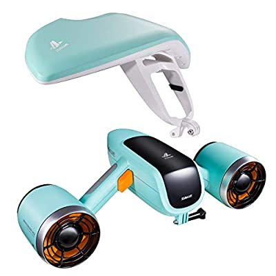 WINDEK SUBLUE WhiteShark Mix Underwater Scooter with Action Camera Mount Dual Motor 40M Waterproof for Water Sports Swimming Pool & Diving & Snorkeling & Sea Adventures
