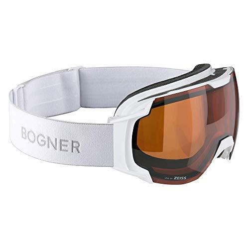 Bogner Snow Goggles Just B Sonar | Weiß | Ski & Snowboard Brille | Hochwertige Qualität