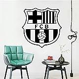 Logotipo de fútbol moderno decoración del hogar vinilo Mural calcomanía habitación de los niños arte pegatinas de pared sala de juegos Mural A5 57x57cm