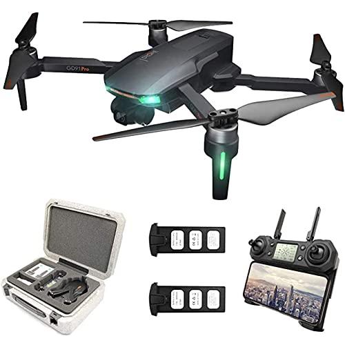 DCLINA Droni GPS con videocamera UHD 4K - Zoom 50x 5GHz WiFi FPV Live Video con stabilizzatore cardanico a 2 Assi Volo a 1200 Metri