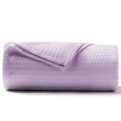DANGTOP Cooling Blankets, Queen Size 100% Bamboo Blanket for All-Season, Cooling Blanket Absorbs Body Heat to Keep Cool on Warm Night, Ultra-Cool Lightweight Blanket for Couch (79x91 inches, Purple)