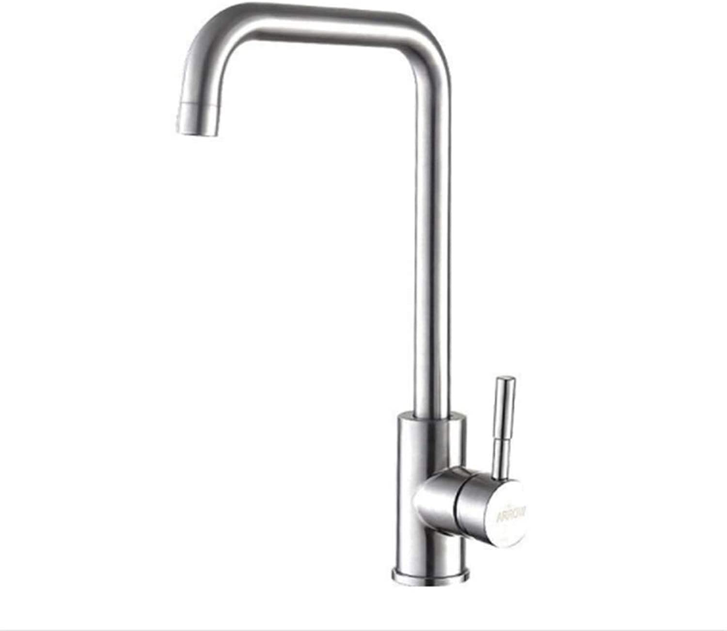 Kitchen Taps Faucet Modern Kitchen Sink Taps Stainless Steelstainless Steel Kitchen Faucet Cold and Hot Water Faucet Dishwash Basin redatable Sink Faucet
