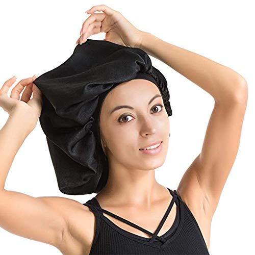 zihui Bonnet De Nuit Respirant Grand Bonnet en Soie De Satin Réglable Et Imperméable Bonnet De Sommeil Protège Les Cheveux pour Les Cheveux Secs Et Les Cheveux Bouclés Restez Toute La Nuit