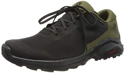 Salomon X Reveal GTX, Zapatillas de Senderismo Hombre, Gris/Verde (Phantom/Burnt Olive/Black), 46 2/3 EU