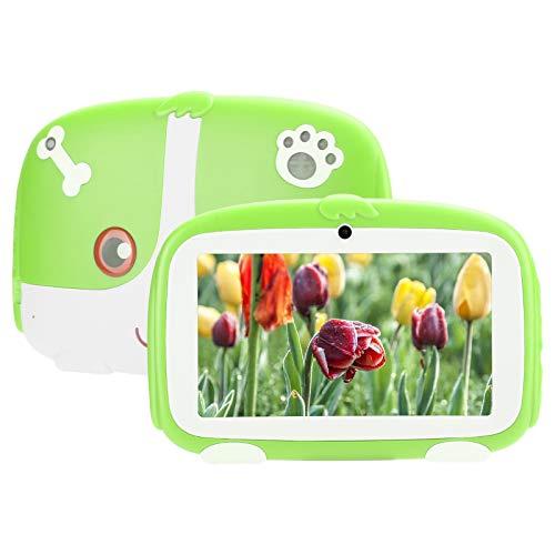BTER Tableta para niños de 7 Pulgadas para Android 9.0, WiFi 1GB + 16GB HD Tableta de Aprendizaje para niños con Estuche Anti-caída, E-Reader portátil para niños para Google (Verde)(EU)