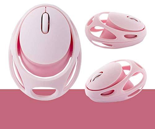 Draadloze muis, 1800 DPI, 2,4 GHz draadloze muis met USB Unifying-ontvanger, elk oppervlak lasertracking voor pc Mac-laptop-Roze