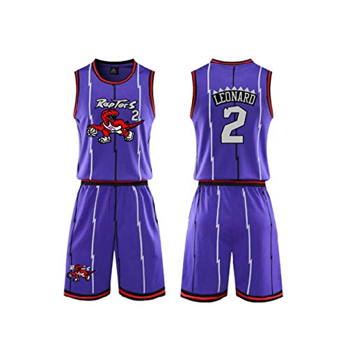 Erwachsene Basketball Anzug Set-Toronto Raptors Tor Jersey McGrady # 1 / Leonard # 2 / Carter # 15 Basketballjerseys Sommer Top + Shorts 1 Set,B,XXL