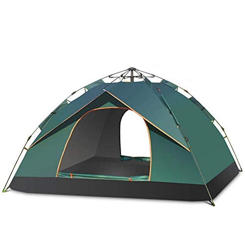 qiuqiu Pop Up Camping Tent,2 Person Doubl Pop Up Tent, Automatic Spring Tent Can Be Opened Quickly,easy To Pitch, Small Porch for Storage, Perfect for Camping & Festivals