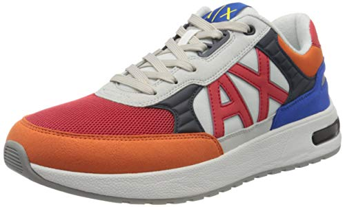 Armani Exchange Running Style Sneakers, Zapatillas para Hombre, Multicolor (Multicolor A500), 43 EU