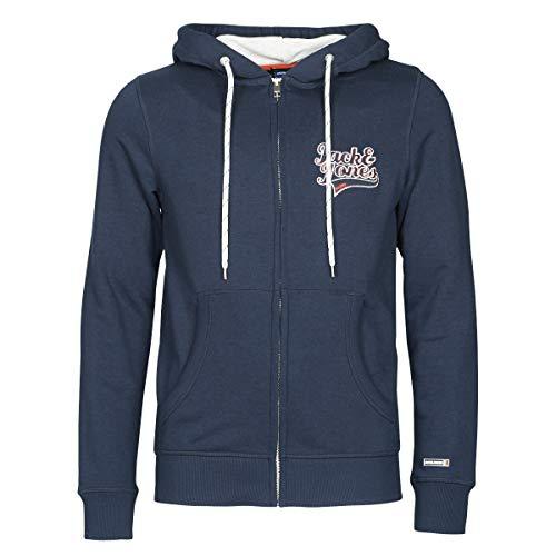 JACK & JONES Herren JORAYDON Sweat Zip Hood npullover Sweatjacke Kapuzenpullover, Navy Blazer, XL