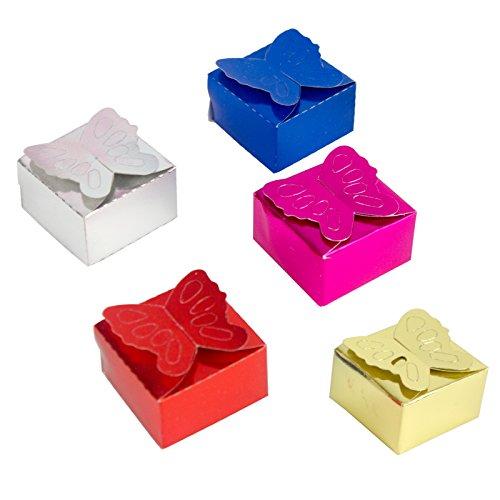 origin-AL Home & Style Schmetterlinge Henna Box 100 Stück - für Hennaabend Kina Gecesi Polterabend türkische Hochzeit Sünnet Gastgeschenke