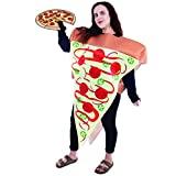 Supreme Pizza Slice Halloween Costume   Adult Unisex Funny Food Outfit