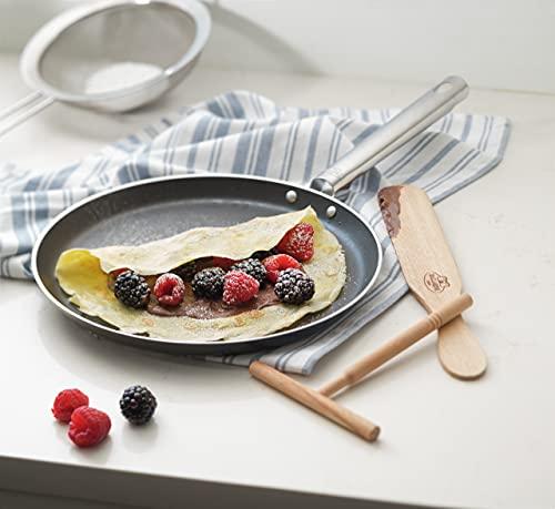 BALLARINI cookin'Italy Crepe Pan Set, 10.5-inch, Black