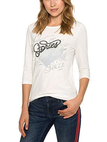 SOCCX Damen Shirt mit 3/4-Ärmeln und Artwork