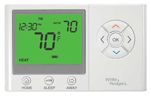 White-Rodgers UP300 Easy Set 7 Day Programmable Universal Thermostat