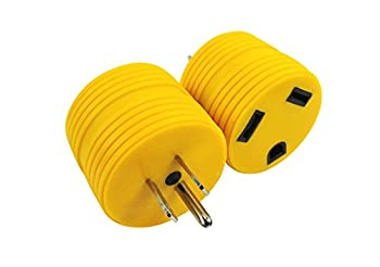 Leisure Cords Power Adapter 3 prong 15 amp Male to 30 amp Female RV Camper Generator Plug Outdoor Electrical Power Converter  15 Male - 30 Female
