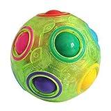 haohaiyo Magic Ball, Magic Regenbogen Ball Zauberbälle, Rainbow Puzzle Ball Würfel, 3D Puzzle Zauberbal Fidget -Cube Spielzeug Für Kinder, Stressball Oder Knobelspiel Für Erwachsene