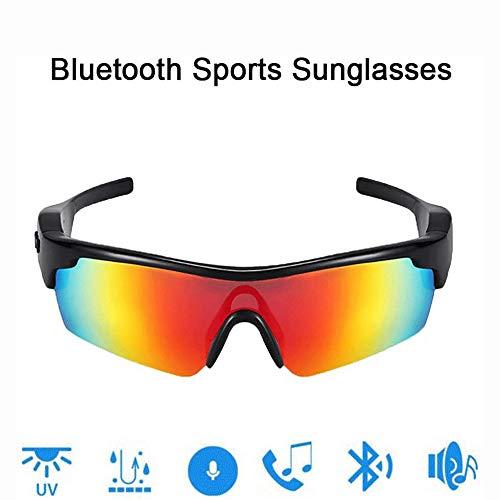 JNWEIYU Nacht Knochen Bluetooth Brille Smart Bluetooth Sonnenbrille, Sprachanwahl, Lieder zu hören und Mode, Lossless Noise Reduction freihändiges Fahren Sport Radfahren Männer Frauen (Color : C)
