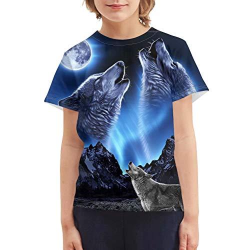 Chaqlin - Camiseta de manga corta para niños de 3 a 16 años con impresión en 3D, diseño colorido