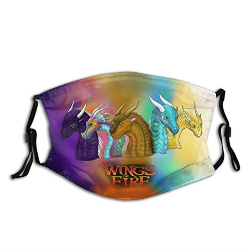 Wings of Fire Dragon Outdoor Mask,Protective 5-Layer Activated Carbon Filters Adult Men Women Bandana