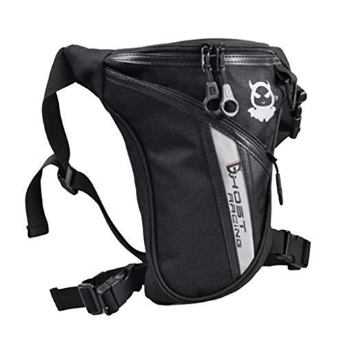F Fityle Motorrad Pack Brieftasche Sport Hüfttasche, Gürteltasche Beinbeutel Mode Beintasche Bein-Geldgürtel für Sport Reisen