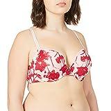 Calvin Klein Damen Plunge Push-Up-BH, Fallen Love Print_Sand Rose, 65C