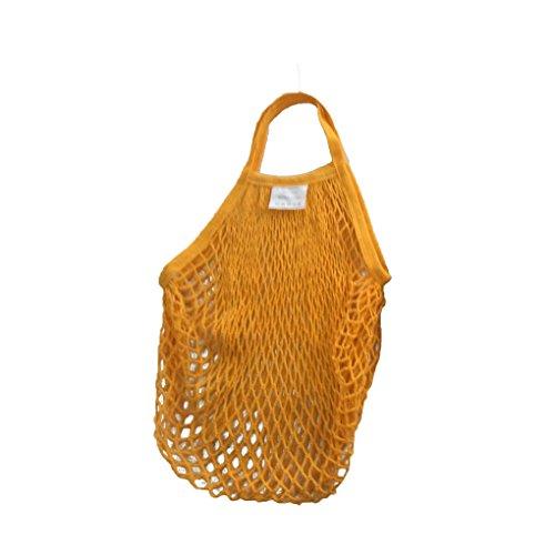 Sunlera Wiederverwendbare Frucht-Netz-Taschen-Handtasche der Baumwollaußenseite große Kapazitäts-Einkaufsnetz-Tasche