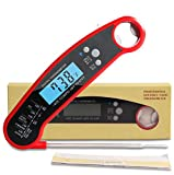 Digital Meat Thermometer Instant Read, Waterproof, Oven Safe, For Grilling, Smoker, BBQ, Baked...