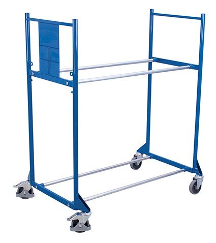 Reifenwagen mit 2 Etagen Traglast (kg): 300 Ladefläche: 1145 x 395 mm RAL 5010 Enzianblau