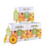Zutec - Cápsulas de Zumo de Melocotón 100% Natural - Compatibles con cafeteras Dolce Gusto* - 3 Estuches de 12 cápsulas - 36 cápsulas