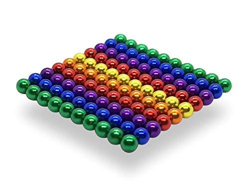 movmagx Magnetkugeln 5mm [ 100 Stück - 6 Farbenversion ] inkl. Samtbeutel - Super Starke Magnete für Pinnwand, Magnettafel, Whiteboard, Kühlschrank