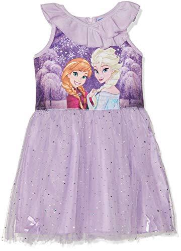 Disney Frozen Mädchen Frozen Kleid, Violett (Purple 14-3612TC), 8 Jahre
